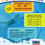 Srdečne Vás pozývame zaplávať si ! 17. septembra 2016 (sobotu) v čase od 10:00 hod. do 18:00 hod. bude Mestská krytá plaváreň patriť všetkým Košičanom. Lístky (platia na dve hodiny vo vybranom čase) si môžete zadarmo vyzdvihnúť na Miestnom úrade Mestskej časti Košice-Staré Mesto, Hviezdoslavova č. 7, referát sociálnych služieb č. dverí 37, a to […]