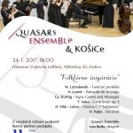 """Múzeum Vojtecha Löfflera Vás pozýva nakoncertQuasars Ensemble dňa 24. januára 2017 (utorok) o 18.00. Odznejú """"Folklórne inšpirácie"""". Vstup voľný!"""