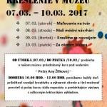 Múzeum VojtechaLöfflera pozýva všetky deti, ktoré majú záujemmaľovať, kresliť, zabaviť sa, na PRÁZDNINOVÉ KRESLENIE, ktoré sabude konať v dňoch 7.3. (utorok)-10.3.2017 (piatok)v čase od 10.00- 12.00 hod. Vstupné: 2 € (rodičia vstup voľný)