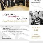 Múzeum Vojtecha Löfflera Vás pozýva nazáverečný koncertv rámci siedmeho ročníka cyklu Quasars Ensemble& Košice, ktorý bude zároveň ajspomienkou na Jozefa Sixtu. Uskutoční sa dňa 20.februára 2017 (pondelok) o 18.00.  Vstup voľný!