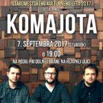 Srdečne Vás pozývame na posledné podujatie v rámci Staromestského kultúrneho leta 2017, ktoré vyvrcholí koncerrtom skupiny Komajota dňa 7.9.2017 (štvrtok) o 19.00 hod. pri Dolnej bráne. Tešíme sa na Vás.