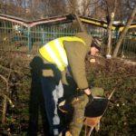 Aktivační pracovníci sa ešte minulý týždeň pustili do upratovania multifunkčného ihriska na L. Novomeského. Včera pokračovali vo vyklčovaní starých kríkov a orezávaní stromov. Dnes tento odpad naložili do kontajnera.