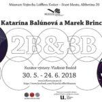 Múzeum Vojtecha Löfflera Vás pozýva na vernisáž výstavy: 2B & 3B – Katarína Balúnová a Marek Brincko Vernisáž sa uskutoční 30. mája 2018 o 17:00. Hosť vernisáže: DJ Kelso Výstava prinesie tvorivý dialóg a konfrontáciu dvoch mladých východoslovenských umelcov a zároveň dvoch nosných médií – maľby a sklárskeho sochárstva. Katarína Balúnová, absolventka košickej Katedry výtvarných […]