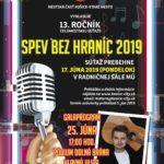 Viete spievať a máte chuť súťažiť? Ste sólista, alebo súčasťou speváckeho zboru, či kapely? Nezáleží na tom, či ste ešte dieťa alebo dospelák, všetkým milovníkom spevu a dobrej muziky je určený už 13.ročník celomestskej speváckej súťaže Spev bez hraníc 2019, ktorú organizuje Mestská časť Košice – Staré Mesto. Súťaž sa uskutoční 17. júna (pondelok) v […]