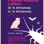 Jesenné prázdniny si môžu deťúrence vychutnať aj u nás v Múzeu Vojtecha Löfflera.:- Pre skvelé ohlasy nášho halloweenskeho šantenia si ho môžu užiť ešte aj v rámci prázdnin, a to v stredu a vo štvrtok, vždy od 13.00 do 15.00 hod. Tešíme sa na stretnutie.