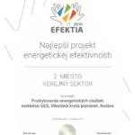 Mestskú krytú plaváreň ocenili za novátorsky projekt v úspore energií V celoslovenskej súťaži EFEKTIA 2019 získala Mestská krytá plaváreň, ktorej majiteľom je MČ Košice – Staré Mesto, 2. miesto v kategórií verejný sektor za projekt garantovanej energetickej služby. Súťaž o najlepšie projekty energetickej efektívnosti vo verejnom a súkromnom sektore vyhlasuje už tretí rok Asociácia poskytovateľov […]