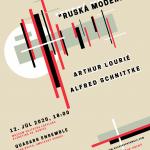 Srdečne Vás pozývame na koncert jedinečného hudobnéhotelesaQUASARS ENSEMBLE v nedeľu12. júla 2020o 18:00 hod. Lourié/Schnittke – Ruská moderna Vstup voľný. Program: Arthur Lourié – Formes en l air (Pablo Picasso) (1915) Alfred Schnittke – Hymnus II (1982) Arthur Lourié – La flûte atravers le violon (1935) Alfred Schnittke – Klavírne kvinteto (1972 – 1976) Účinkujúci: […]